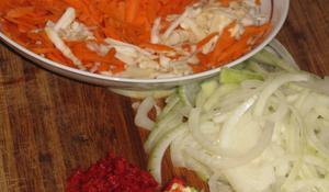 KROK I - Przygotowanie warzyw