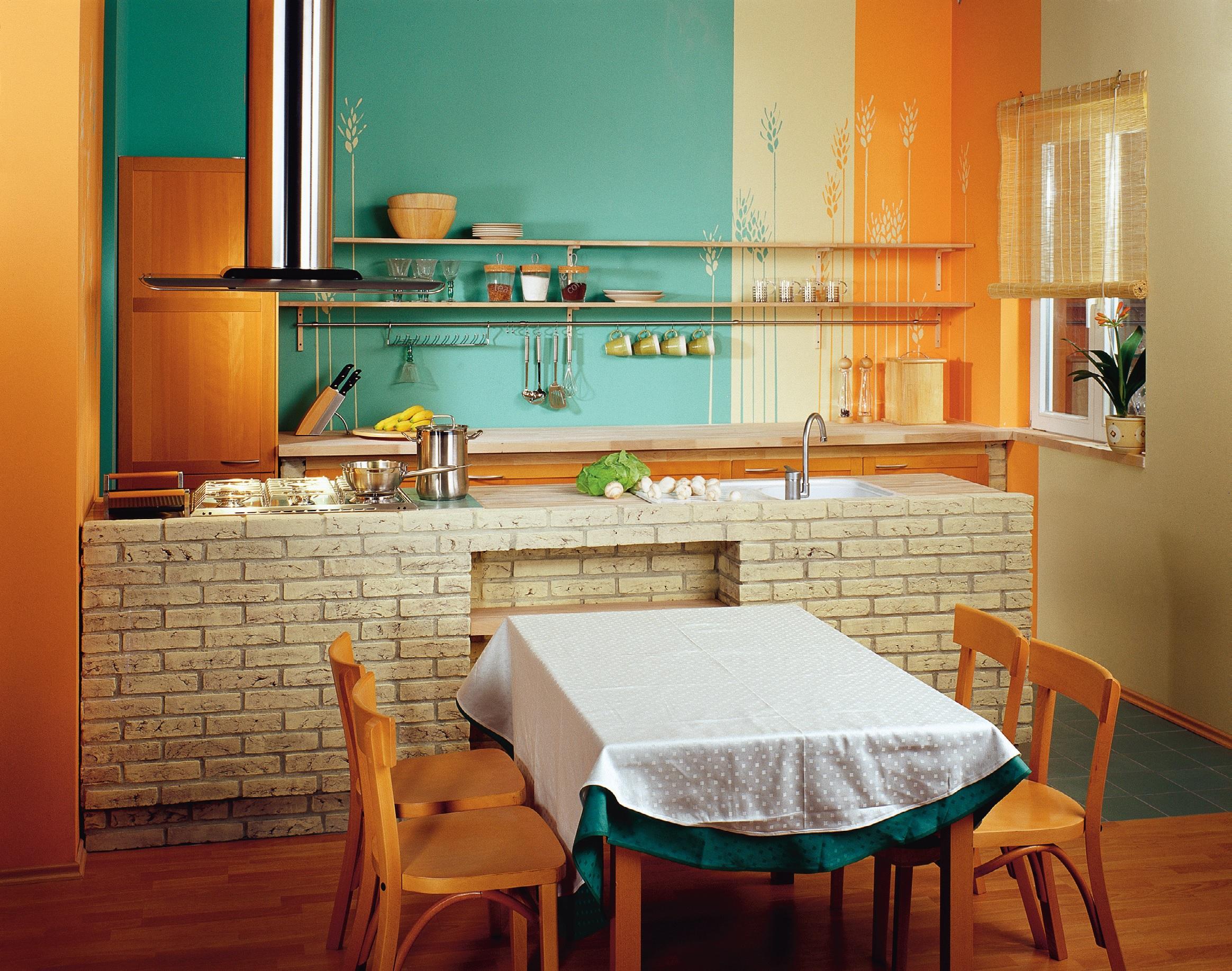 Murowana kuchnia  Zdjęcie  Zrobiszsam pl -> Kuchnia Kaflowa Krok Po Kroku